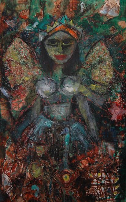 figures abstract fairy,THE FAIRY,ART_2860_20095,Artist : Chandana Khan,Mixed Media