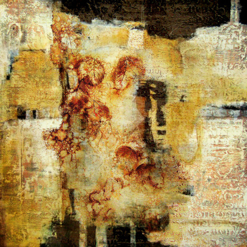 Goddess - 24in X 24in,31ABT741_2424,Yellow, Brown,60X60 Size,Abstract Art Canvas Painting