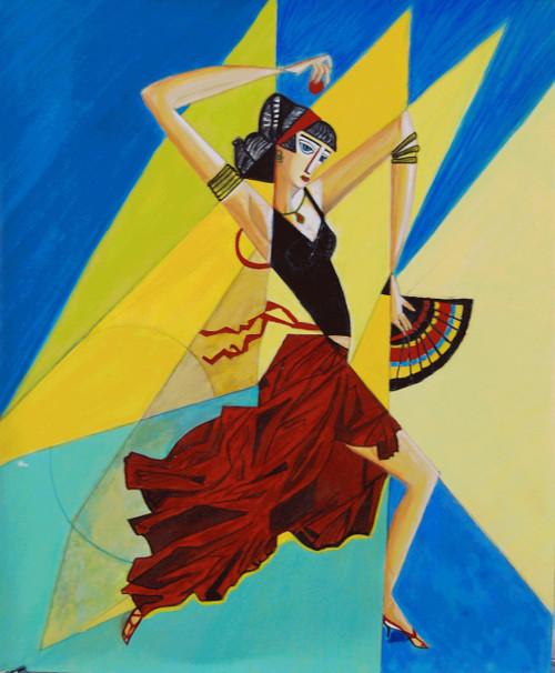 Joy Dancing Happiness,Joy of Dancing,ART_2768_19751,Artist : Shalini Singh,Acrylic