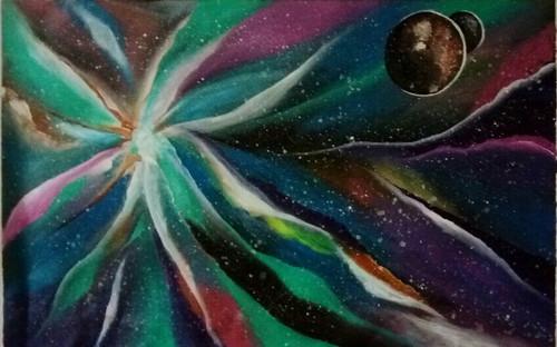abstract,Galaxy,ART_1533_20261,Artist : Dimple Kapoor,Acrylic
