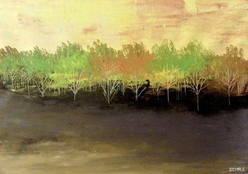 abstract, conceptual base,Dawn and Dusk,ART_1533_20260,Artist : Dimple Kapoor,Acrylic