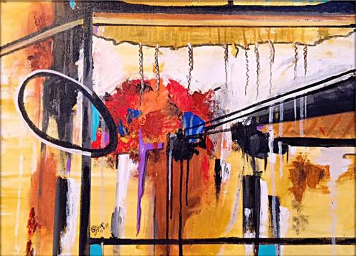 Window, Abstract ,The Window of Dreams,ART_168_20242,Artist : Subhash Gijare,Acrylic