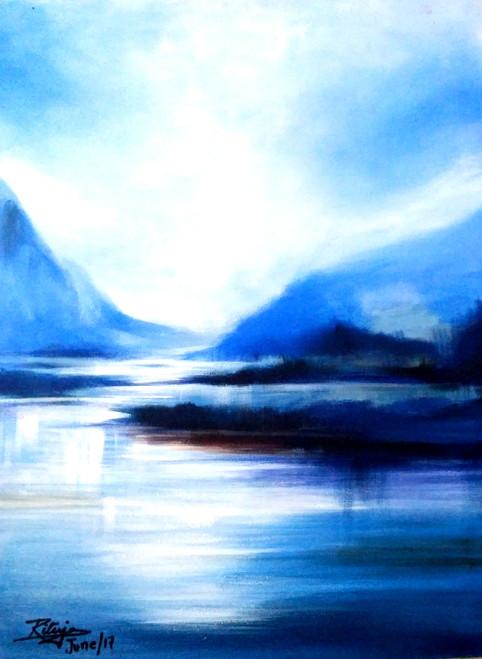 ,Blue Is The Warmest Colour,ART_1268_20298,Artist : Rituja  Gayen,Acrylic