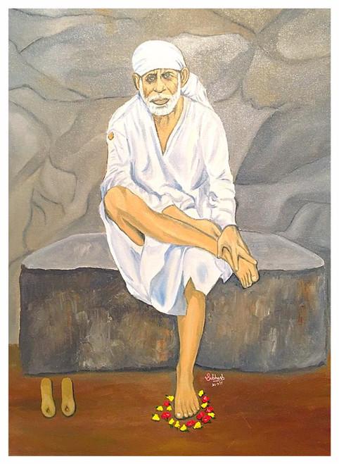 Sai, SaiBaba,,Sai Baba,ART_168_20328,Artist : Subhash Gijare,Oil