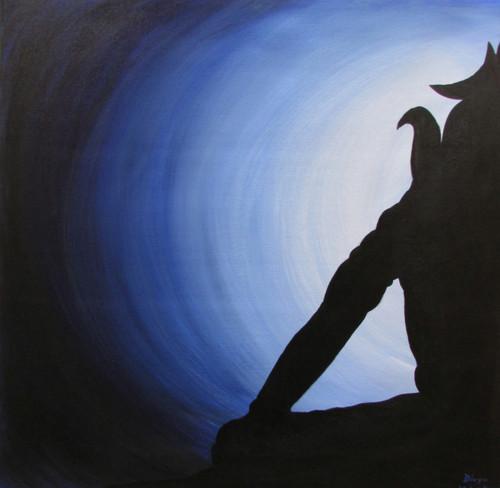 Mahadev meditation,  shiv meditation ,Mahadev in meditation,ART_2333_18732,Artist : Divya Vishvakarma,Acrylic