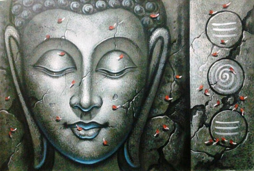 Buddha Painting|Indian Buddha Paintings|Buddha Canvas Painting India