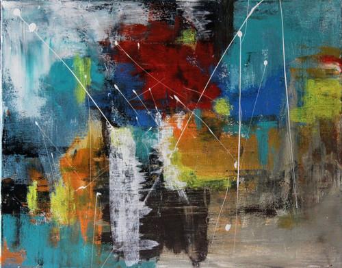 Colors, color rush, colorful, meditation, multi-color,Color Rush,ART_3009_20603,Artist : Shamli Hingorani,Acrylic