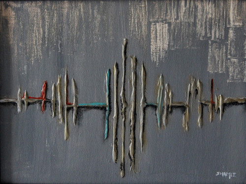 Music, Beats, Gray, Colors of music, grey,Beats,ART_3009_20601,Artist : Shamli Hingorani,Acrylic