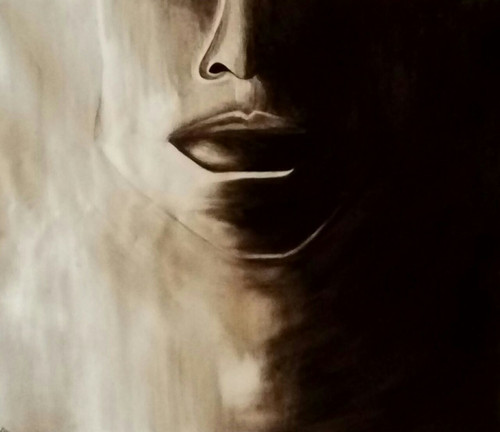 Lady, portrait, expression,Blank Face,ART_1533_20677,Artist : Dimple Kapoor,Oil