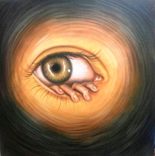Vision - 30in X 30in,ART_PIJN52_3030,Acrylic Colors,Eye,Vision,Drishti,Artist Pallavi Jain,Museum Quality - 100% Handpainted Buy Paintings Online in India