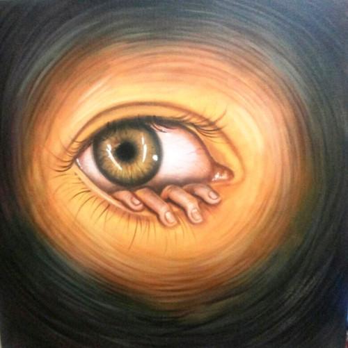 Vision - 30in X 30in,ART_PIJN52_3030,Acrylic Colors,Eye,Vision,Drishti,Artist Pallavi Jain,Museum Quality - 100% Handpainted Buy Paintings Online in India
