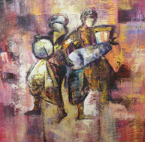 Indian Art ,Indian musical art 05,ART_1522_20747,Artist : Ram Achal,Acrylic