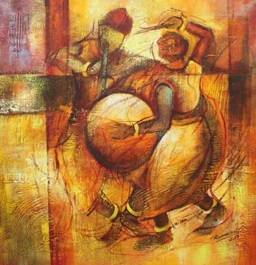 Indian Art ,Indian musical Art 04,ART_1522_20746,Artist : Ram Achal,Acrylic