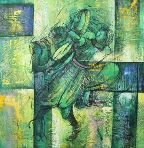 Indian Art ,Musical Indian Art 01 ,ART_1522_20743,Artist : Ram Achal,Acrylic