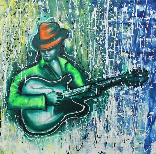 Music,Musical Art 21,ART_1522_20741,Artist : Ram Achal,Acrylic