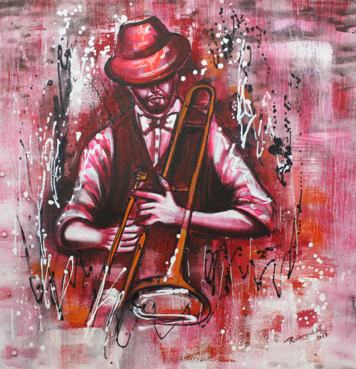 Music ,Musical Art 18,ART_1522_20735,Artist : Ram Achal,Acrylic