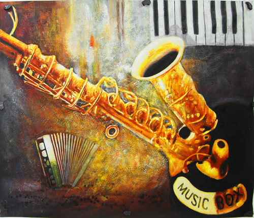 SaxophoneMagic - 40in X 30in - Painting