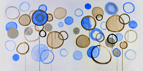 ModernThought - 72in X 36in,31Big96_7236,Blue, Violet, Mauve,180X90 Size,Modern Art Art Canvas Painting