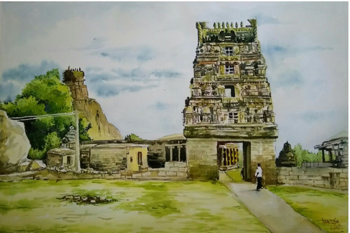 Buy Temple Paintings Online | Purchase temple artworks