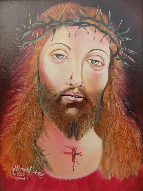 Hem Art –003, Hem Art –003 Ishu, Ishu, Lord Jesus Christ, jesus, God, Lord,Hem Art –003 Ishu,ART_3119_20990,Artist : Hem Art,Oil