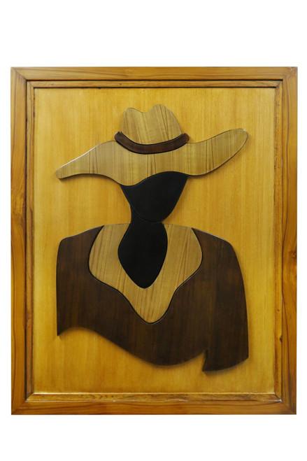 wooden wall art , wall art , wooden paintings ,Beautiful Cowgirl,ART_3137_21057,Artist : Sunil Monga,Oil