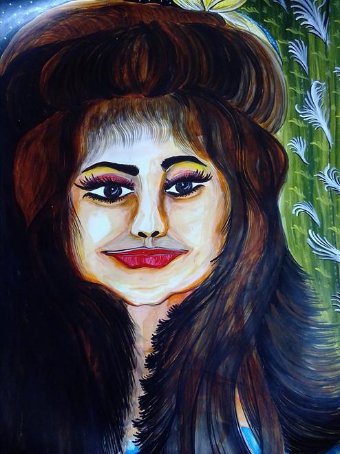 The girl,Beautiful girl,ART_3127_21183,Artist : Pingla Rani,Acrylic