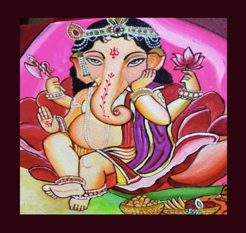 ganesh, ganesha, god, beautiful god, indian god, ganesh darbar,Ganesha,ART_247_21161,Artist : Rachana Chokhani,Acrylic