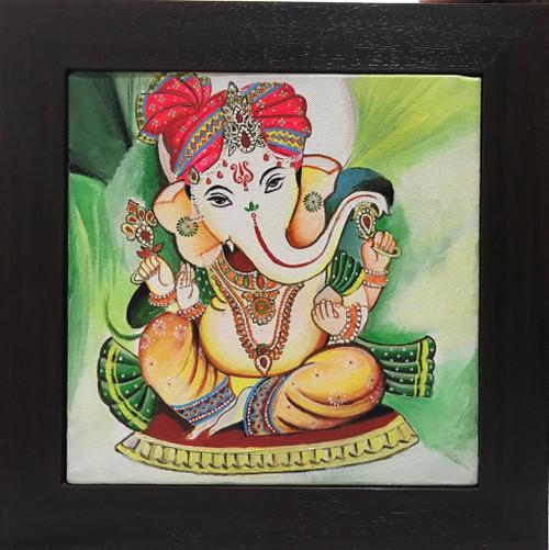 ganesh, ganesha, god, beautiful god, indian god, ganesh darbar,Ganesha,ART_247_21160,Artist : Rachana Chokhani,Acrylic