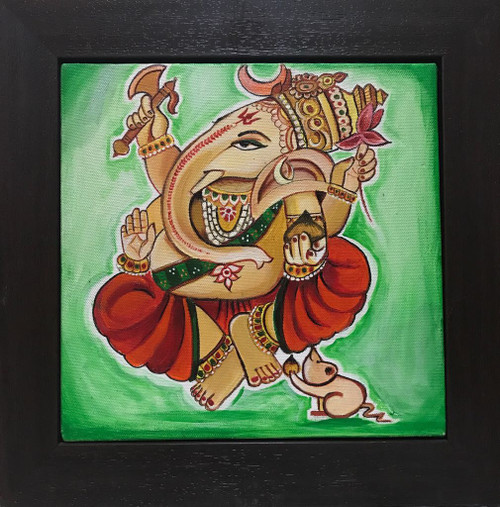 ganesh, ganesha, god, beautiful god, indian god, ganesh darbar,Chanting Ganesha,ART_247_21158,Artist : Rachana Chokhani,Acrylic