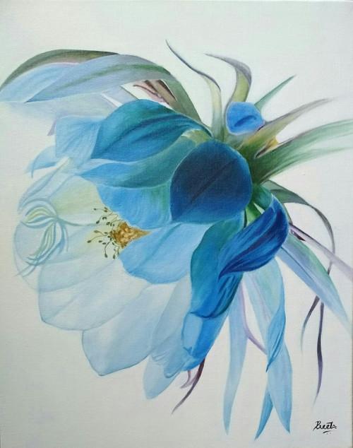 Preeti, flower,tree, peace, softness,nature, petals, colours,FLOWER,ART_2521_21207,Artist : Preeti Dungarwal,Acrylic