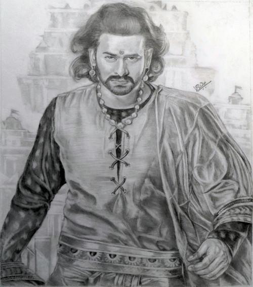 Bahubali,Amarendra Bahubali,ART_3015_20670,Artist : VIJAYKUMAR SHINDE,Pencil