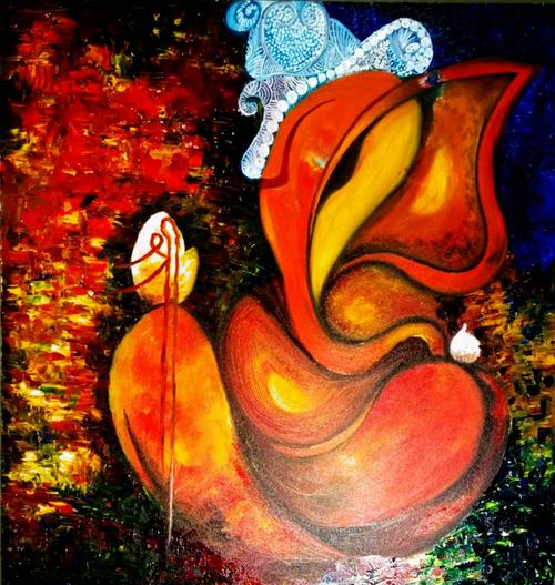 Ganesha, Ganpati,Ganesha ,ART_2427_21277,Artist : Sayali Patil,Oil