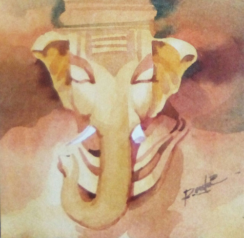 Ganesh ,God, Gift, Religious,lord Ganesh,ART_3154_21340,Artist : Rasheed P U,Water Colors