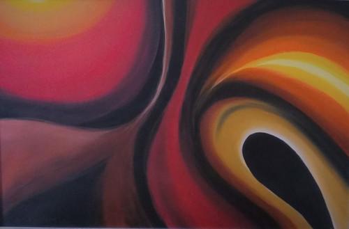 my colour theme,abstract,ART_3194_21358,Artist : ANURADHA KULKARNI,Acrylic