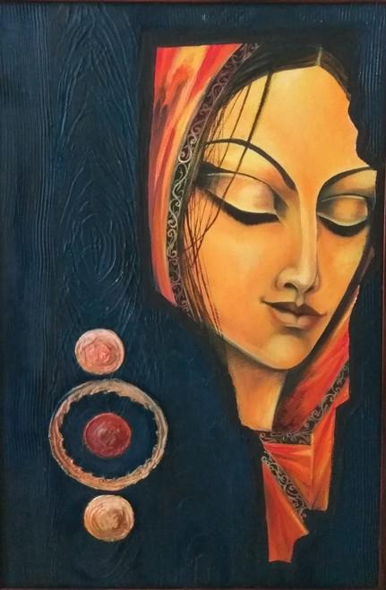 peace,peace of mind,ART_3194_21357,Artist : ANURADHA KULKARNI,Oil
