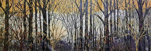 trees , forest , jungle , textured , knife art, knife painting,canvas, nature, landscape, ,Euphoria,ART_1000_16675,Artist : Shilpi Patel,Acrylic