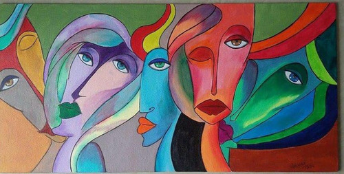abstract, colours, insomnia, contemporary, modern art.,Insomnia,ART_3134_21552,Artist : Vaishali Patil,Acrylic