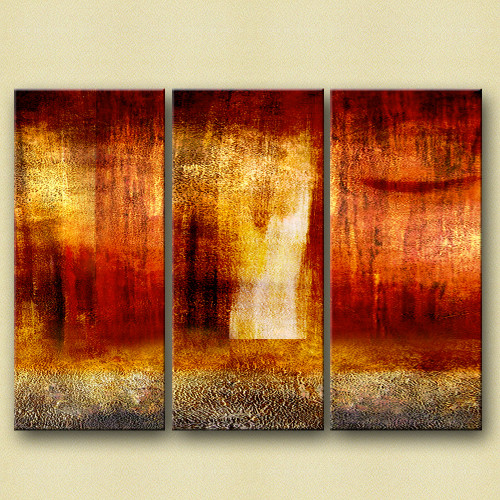 Koplas - 48in X 36in,31GRP181_4836,Red, Pink, Orange,120X90 Size,Multi Panel Art Canvas Painting