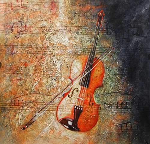 StarGuitar - 32in X 32in,FIZ026MSC_3232,Yellow, Brown,80X80,Modern Art Art Canvas Painting