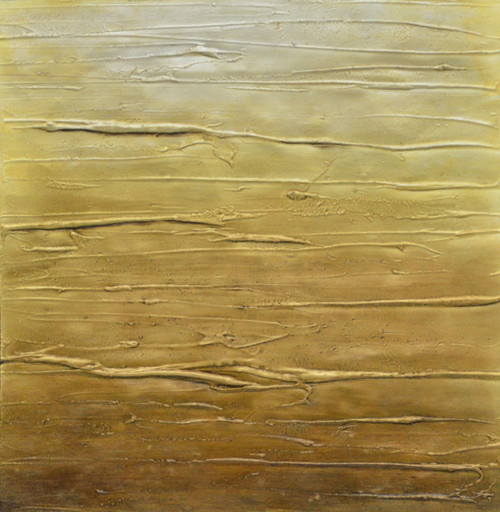 Yellow Abstract Lines (FR_1523_24143) - Handpainted Art Painting - 16in X 16in (Framed)