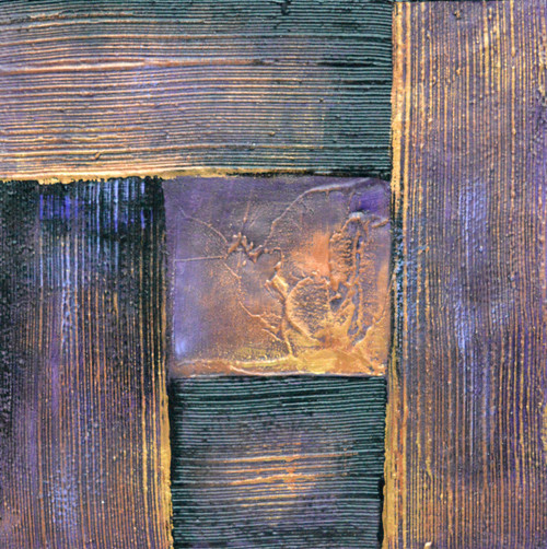 Abstract Squares (FR_1523_24133) - Handpainted Art Painting - 16in X 16in (Framed)