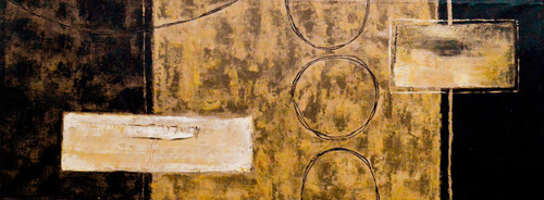 Brown Abstract (FR_1523_24116) - Handpainted Art Painting - 47in X 18in