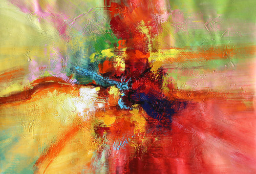 Abstract 010 (ART_1522_14346) - Handpainted Art Painting - 36in X 24in