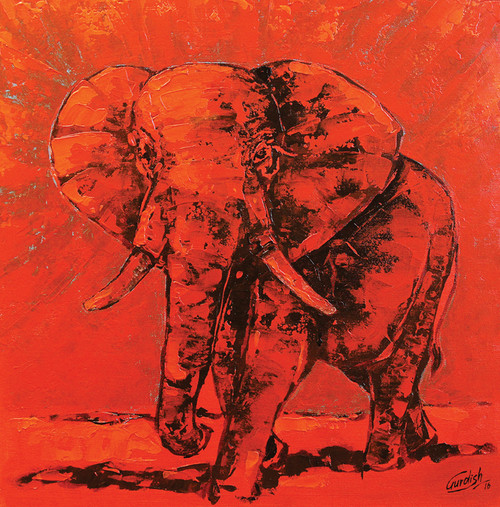 ANIMAL_2 (ART_2571_25216) - Handpainted Art Painting - 18in X 18in