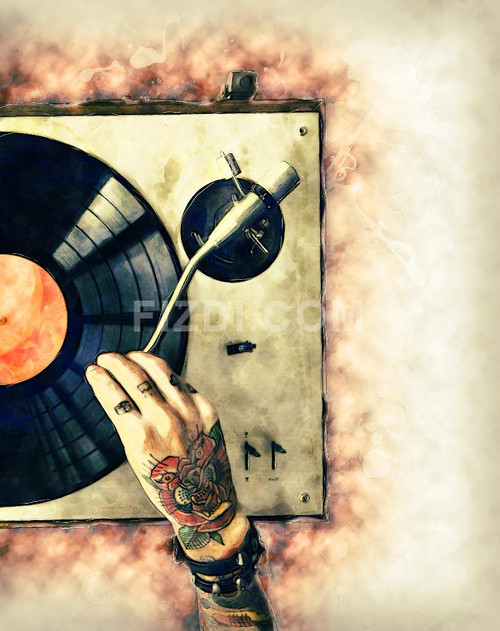 Audio Music (PRT_16) - Canvas Art Print - 21in X 27in