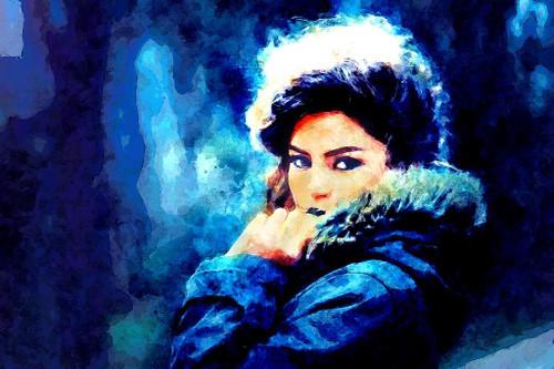 Fashion Girl (PRT_415) - Canvas Art Print - 32in X 21in