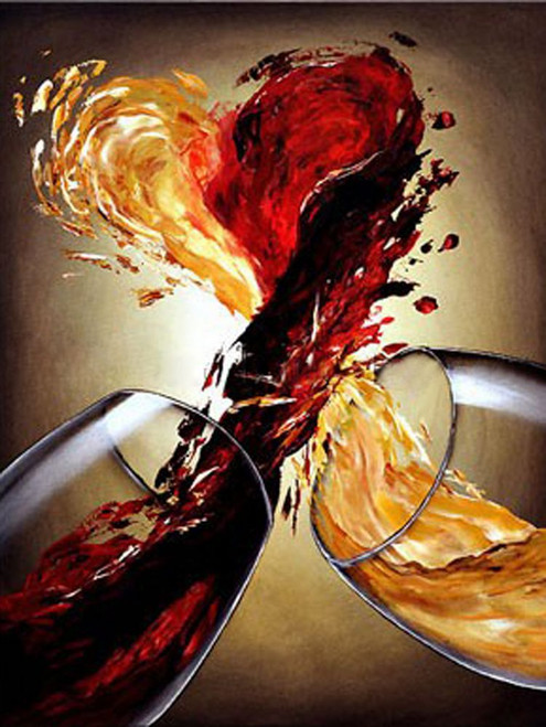 Modern130 - 24in X 32in,Modern130_2432,Oil Colors,Still Life,Black Background,Red, Pink, Orange,60X80 Size,Modern Art Canvas Painting Buy painting online for sale by fizdi.com in India