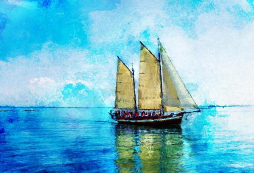 Boat (PRT_439) - Canvas Art Print - 31in X 21in