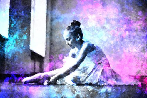 Little Ballerina (PRT_440) - Canvas Art Print - 32in X 21in