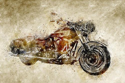 Harley Davidson (PRT_469) - Canvas Art Print - 32in X 21in